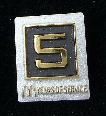 McDonald's Five Years Of Service Lapel Pin New In Box