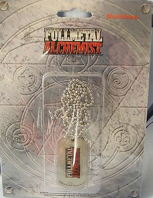 Fullmetal Alchemist FMA Anime Show Logo Dog Tag on Ball Chain Official Necklace