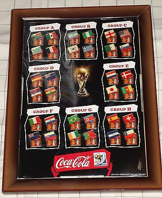 FIFA World Cup 2010 South Africa Coca Cola Pin set of 32