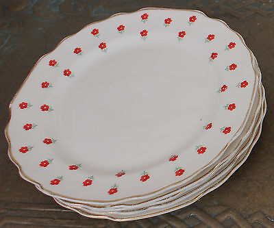 """Vintage W S George Lido Blushing Rose 6.75"""" Lunch or Dessert Plate"""