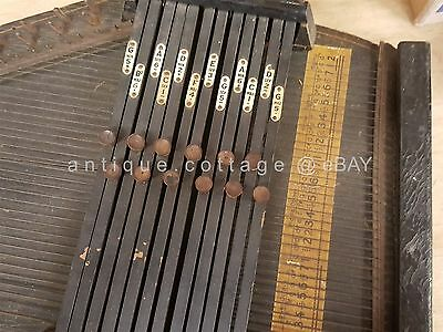 antique ZITHER AUTOHARP old WOOD MUSICAL INSTRUMENT 22""