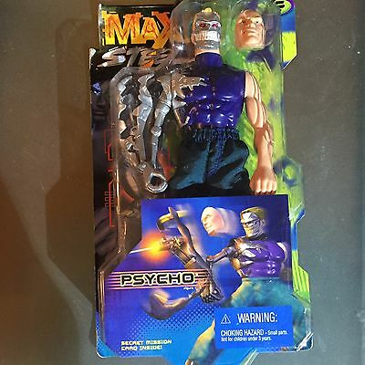 "1999 Max Steel Psycho 12"" Action Figure MOC RARE!"