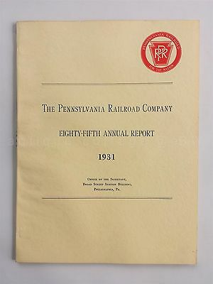 1931 vintage PENNSYLVANIA RAILROAD COMPANY ANNUAL REPORT 85th year PRR