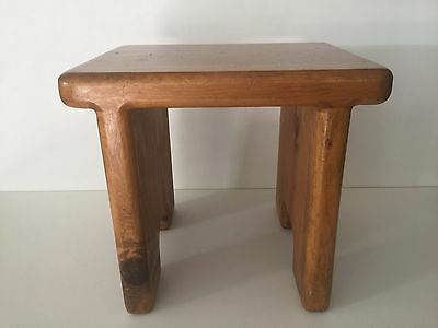 "Vintage Wooden Step, Milking, Foot Stool Bench, 13 1/2"" x 11"" x 12 1/2"" High"