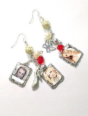 Britney Spears cool EARRINGS....show, jewelry, icon, vegas, rare, cover cd