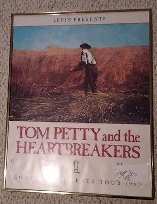 Tom Petty & The Heartbreakers Southern Accents Poster  W/ Stan Lynch Autograph