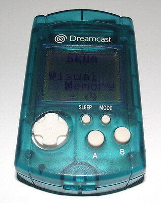 Genuine Blue Sega Dreamcast VMU Memory Card Official Preloved Japanese