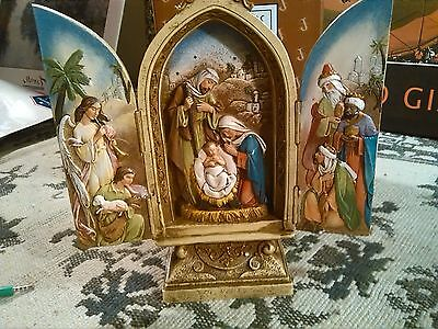 """Bloomingdale & Illinois ® Roman Inc. 9"""" Triptych With Kings & Angel"""