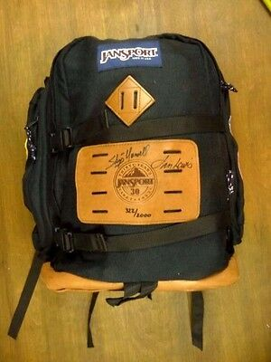 Skip Yowell Signed Autographed Founder Jansport Leather Patch Vintage Backpack