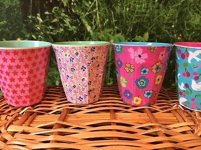 RICE Melamine Cup Set - Including 4 Medium Cups with Girls Designs