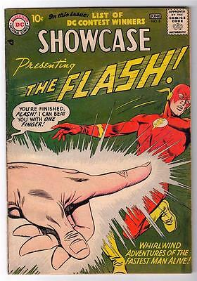 SHOWCASE DC Comics Silver age #8 1960 FN+ 6.5  1st Captain cold FLASH APPEARANCE