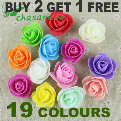 Foam Mini Roses Head Buds Small Flowers Wedding Home Party Decoration 10 30 100