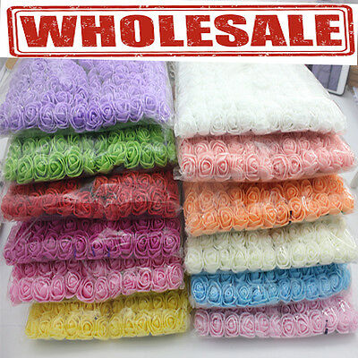 Mini Foam 3cm Roses Wedding Craft Flower Party Decoration Favour- 10 Colours