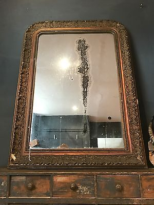 Stunning 19th Century Antique French Foxed Mirror