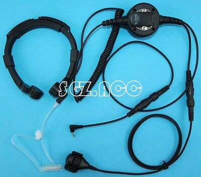 For Cobra Radio Military Tactical Throat Mic Headset/Earpiece  Walkie Talkie