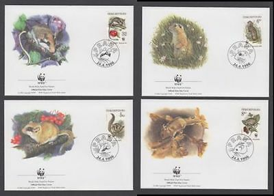Czech Republic 1996 WWF Rodents Set of 4 FDC