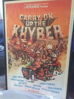 Carry on up the Khyber. framed US one sheet original poster.