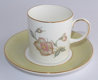 Susie Cooper WILD ROSE C987 Coffee Can/Cup and Saucer - Multiple Available