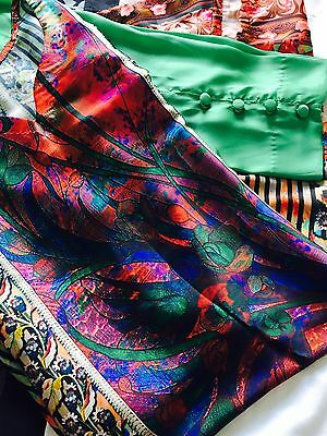 Silk Digital Print Shalwar Kameez Trousers Pakistani Indian - Eid