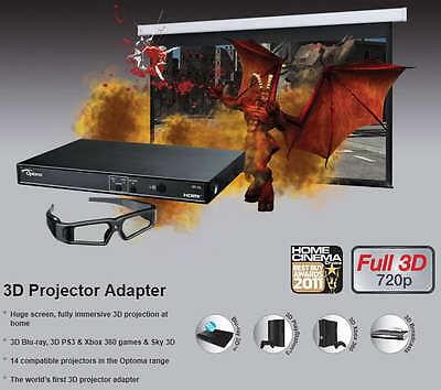 Optoma 3D-XL  3DXL ADAPTER 1080P HD CONVERT YOUR 2D PROJECTOR PICTURE INTO 3D.