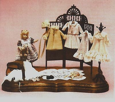 "10 Piece Wardrobe For 4"" Mignonette All Bisque Dolls Reproduction Pattern"