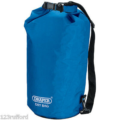 Draper 10 Litre Dry Bag Water-Resistant PVC Camping Boating Boat Canoe 38351