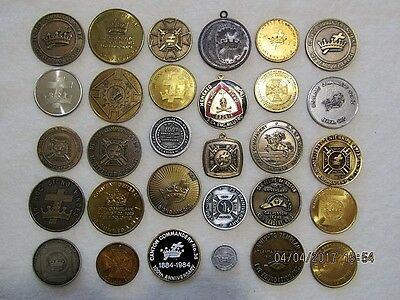 30 -  KNIGHTS TEMPLAR MEDALS - COINS - TOKENS - Large Assortment