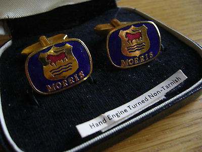 Morris   Original  Logo Cufflinks   Produced  By Stratton Factory Showroom Aid