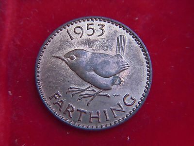 1953 Elizabeth 11 Farthing In A  High  Grade From My Best Set Of Coins [M13]