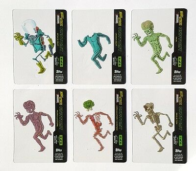 MARS ATTACKS INVASION Alien Martian Anatomy Chase Set of 6 Trading Cards Limited