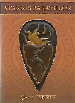 "Game of Thrones Season 4 - H3 ""Stannis Baratheon"" Shield / Pin Card #143/300"