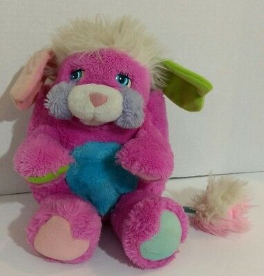 "Pink With Blue Belly 12"" Popple Vintage Mattel Plush Figure"