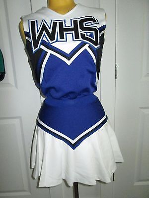 Vintage Style High School Cheerleader Uniform Outfit Costume WHS One Piece Dress