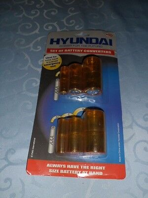 Hyundai Set of Battery Converters AA, C & D with a Multitude of Combinations
