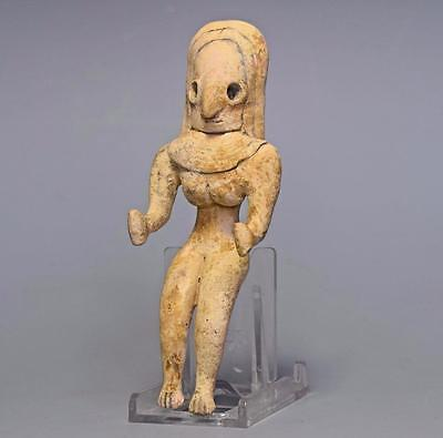 Rare Indus Valley chalcolithic fertility figure circa 2500-2100 BC. Authentic.
