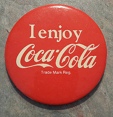 Coke 'I Enjoy Coca-Cola' Pinback 1980s 3""