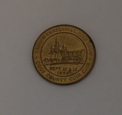 Vintage 1959 Oregon Centennial 100 Year Anniversary Coos County Coin Club Token
