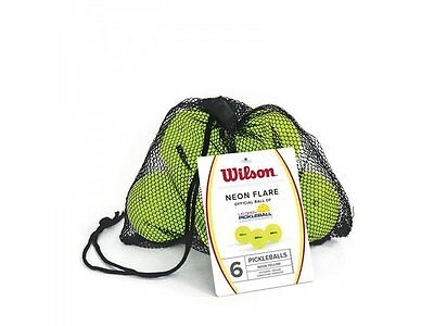 Wilson Neon Flare 6-Pack Pickleball Wiffle Practice Ball | New | Free USA Ship