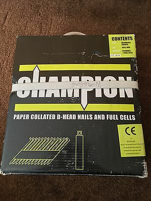 Champion 90mm galvanised nails 2200 + 2 fuel cells, fits paslode, makita, dewalt