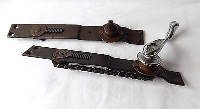 Vintage Classic Car Chain Operated Window Winder H.m.hobson Complete & One Spare