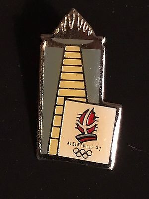 RARE PINS PIN'S .. OLYMPIQUE OLYMPIC ALBERTVILLE 92 La Flamme