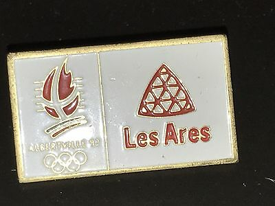 RARE PINS PIN'S .. OLYMPIQUE OLYMPIC ALBERTVILLE 92 Les Arès
