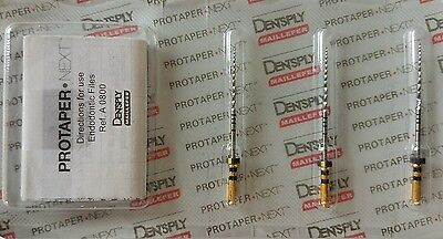 Dentsply Tulsa Protaper Next X4 31 mm 040.06 Files Endodontic Dental Root Canal