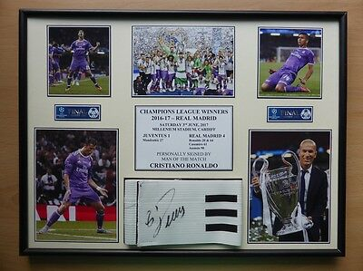 2017 Real Madrid Champions League Winners Display Signed by Ronaldo (11099)