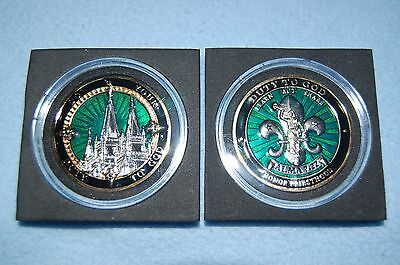 """LDS/BSA """"Duty To God"""" Challenge Coin"""