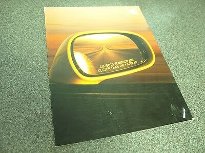 2002 Acura NSX Poster Style Intro Sales Brochure -  Rare Mint Copy!