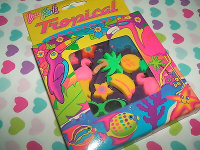 Rare Vintage 1980s Lisa Frank Tropical erasers rubbers gommes gommine