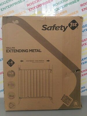 Safety First Wall Fix Extending Metal Baby Stair Gate Safety Barrier NEW & Boxed