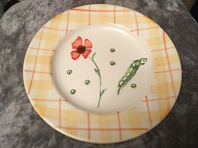 "Laura Ashley Summer Garden Dinner Plate 10"" Diameter"