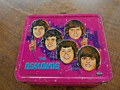 1973 The Osmonds Lunchbox Metal Aladdin NO THERMOS